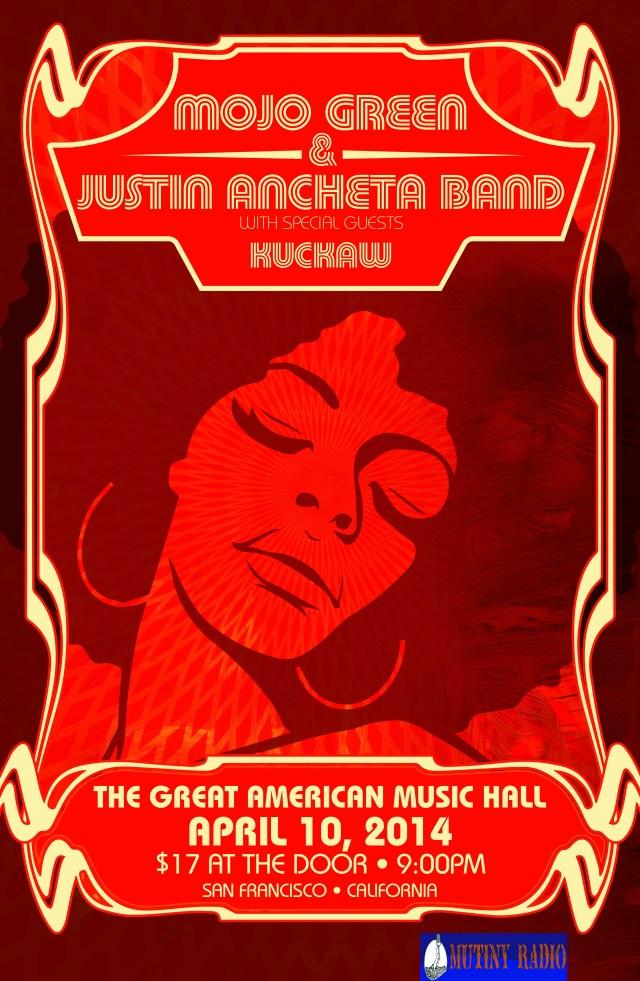 Soul Graffiti Presents: MojoGreen, Justin Ancheta Band, Kuckaw!